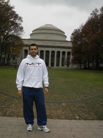 Carlos Sauer, exolimpico de OMAPA, en el Massachusetts Institute of Technology (MIT), Cambridge, MA, Estados Unidos