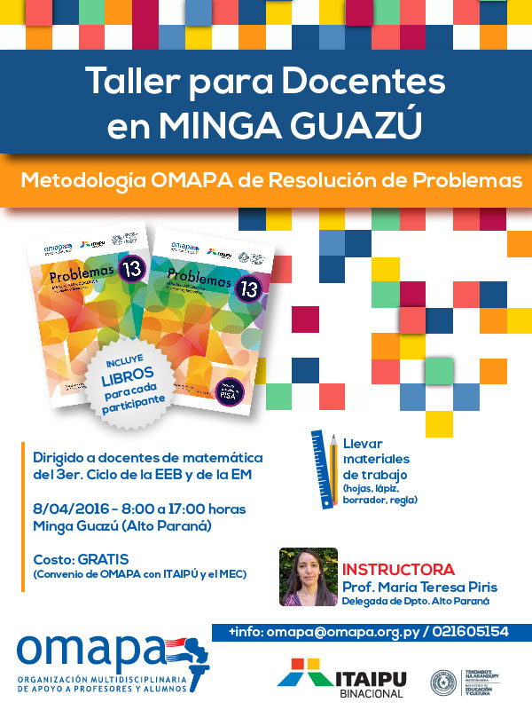 Taller docentes Minga Guazú - Prof. María Teresa Piris-01