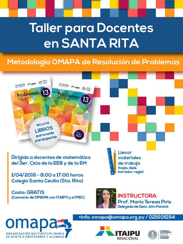 Taller docentes Santa Rita - Prof. María Teresa Piris