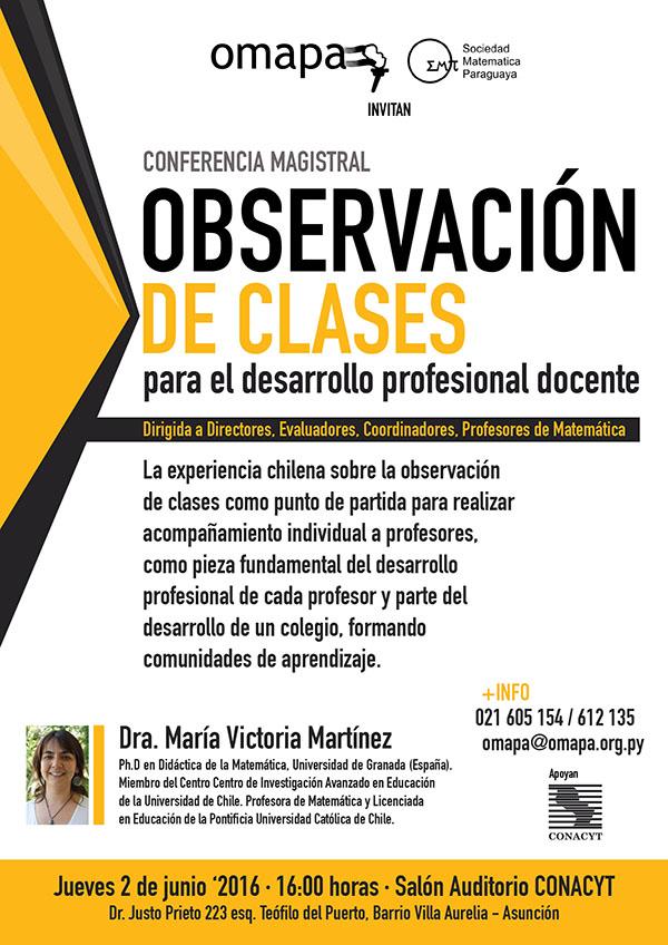 Conferencia en Paraguay sobre Educación Matemática