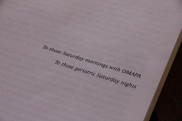 """""""A esos sábados de mañana en OMAPA"""", la dedicatoria de Andrés Codas en su tesis de doctorado en la Universidad Noruega de Ciencia y Tecnología."""